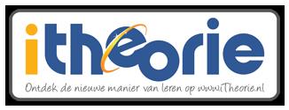 Afbeelding van theorie sticker om aan te geven dat je bij rijschool J. van Asselt theorielessen in Alphen aan den Rijn kunt volgen