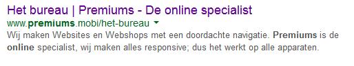 SEO titel Premiums de online specialist